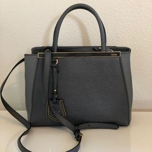 Fendi 2Jours Mini Tote Bag (Gray)